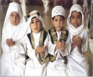 Puzzle de Niños haciendo Du'a, una súplica en el Islam