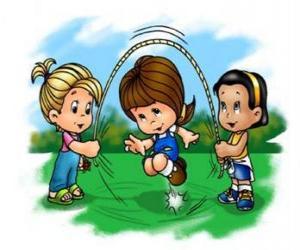 Puzzle de Niños jugando a saltar la cuerda