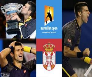 Puzzle de Novak Djokovic Campeón Open Australia 2013
