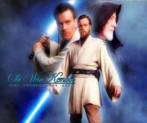 Puzzle de Obi-Wan Kenobi, uno de los maestros Jedi