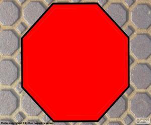 Puzzle de Octágono u Octógono regular, polígono con ocho lados