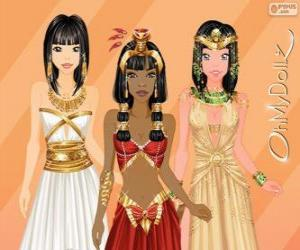 Puzzle de Oh My Dollz egipcias
