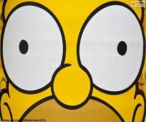 Puzzle de Ojos de Homer Simpson