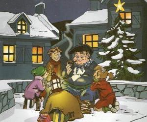 Puzzle de Olentzero es un personaje que trae regalos el día de Navidad en el País Vasco y Navarra