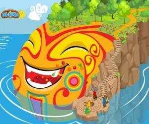 Puzzle de Oloko. Crea tu propio mundo en el juego de estrategia en línea para los niños inteligentes