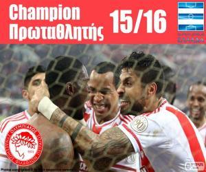 Puzzle de Olympiacos FC campeón 15-16