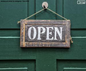 Puzzle de Open, abierto