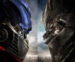 Puzzle de Optimus vs Megatron