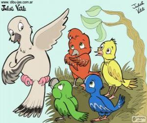 Puzzle de Pájaros de colores, Julieta Vitali
