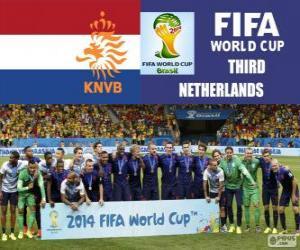 Puzzle de Países Bajos 3er clasificado del Mundial de Fútbol Brasil 2014