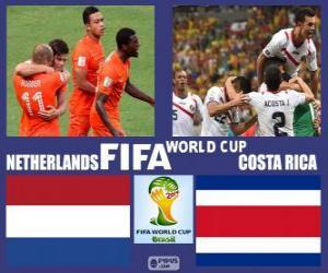 Puzzle de Países Bajos - Costa Rica, cuartos de final, Brasil 2014