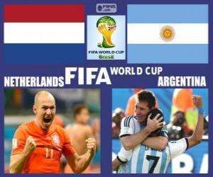Puzzle de Países Bajos - Argentina , semifinales, Brasil 2014