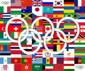 Puzzle de Países medallistas LDN 2012