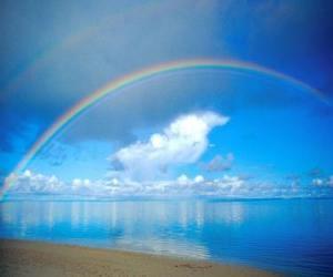 Puzzle de Paisaje con arcoiris