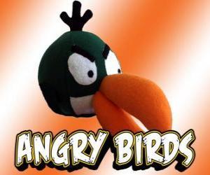 Puzzle de Pájaro Verde (Green Bird), pájaro con efecto boomerang