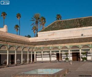 Puzzle de Palacio de la Bahía, Marrakech, Marruecos