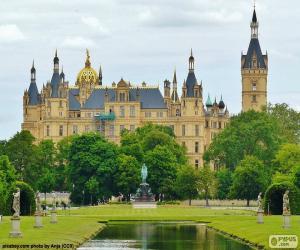 Puzzle de Palacio de Schwerin, Alemania