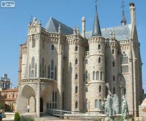 Puzzle de Palacio Episcopal de Astorga, España (Antoni Gaudí)