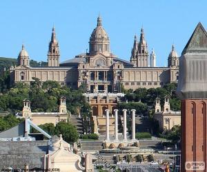 Puzzle de Palacio Nacional, Barcelona
