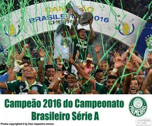 Puzzle de Palmeiras, campeón Brasil 2016