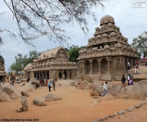 Puzzle de Pancha Rathas, India