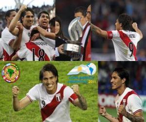 Puzzle de Paolo Guerrero máximo goleador Copa América 2011