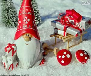 Puzzle de Papá Noel, adorno navideño