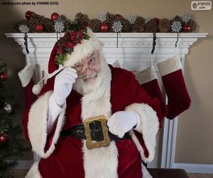 Puzzle de Papá Noel, chimenea