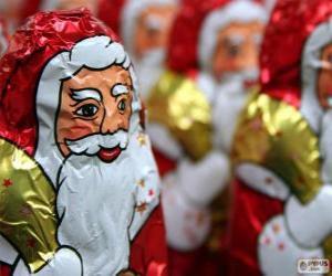 Puzzle de Papá Noel de chocolate