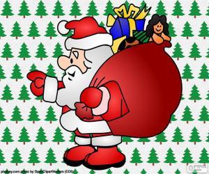 Puzzle de Papá Noel, dibujo
