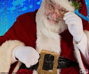Puzzle de Papá Noel observado