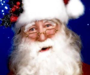 Puzzle de Papa Noel con su gorro y su barba