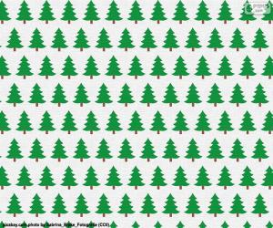Puzzle de Papel de árboles de Navidad