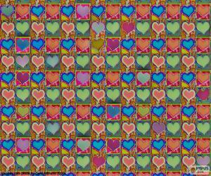 Puzzle de Papel de corazones