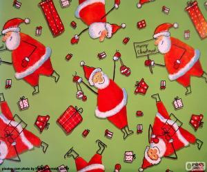 Puzzle de Papel de Papá Noel