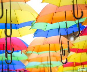 Puzzle de Paraguas de colores