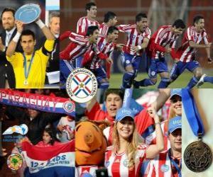 Puzzle de Paraguay, 2º clasificado Copa América 2011