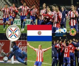 Puzzle de Paraguay finalista, Copa América Argentina 2011