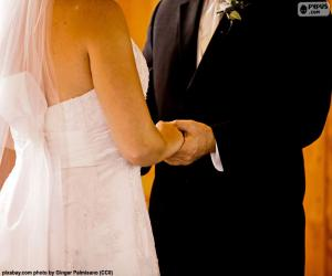 Puzzle de Pareja en su boda