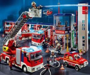 Puzzle de Parque de bomberos
