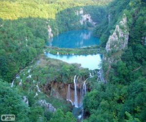 Puzzle de Parque nacional de los Lagos de Plitvice, Croacia