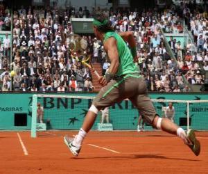 Puzzle de Partido de tenis con espectadores en las gradas