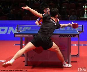Puzzle de Partido de tenis de mesa o ping-pong