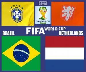 Puzzle de Partido por el 3er puesto, Brasil 2014, Brasil vs Países Bajos