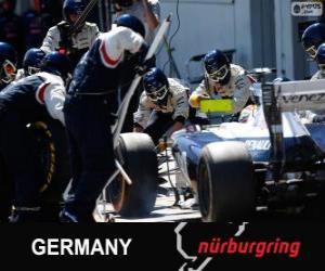 Puzzle de Pastor Maldonado - Williams - Nurburgring, 2013