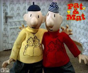 Puzzle de Pat y Mat, dos amigos