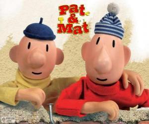Puzzle de Pat y Mat, los manitas más divertidos