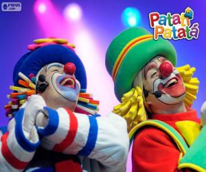 Puzzle de Patatí y Patatá en una actuación