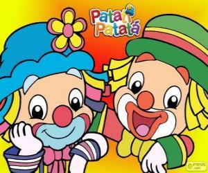 Puzzle de Patati y Patatá, los dos payasos son grandes amigos