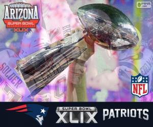 Puzzle de Patriots,Campeón Super Bowl 2015